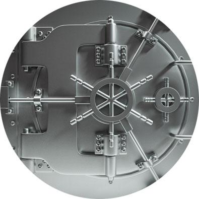 A heavy duty vault door image